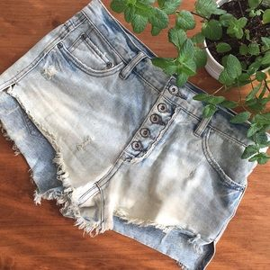 🌱Free People Jean Shorts
